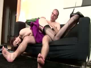 Mature whore fucks hairy cock