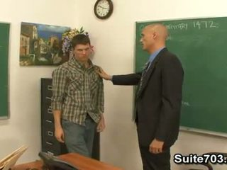 Gay teacher Troy fucking student William hard