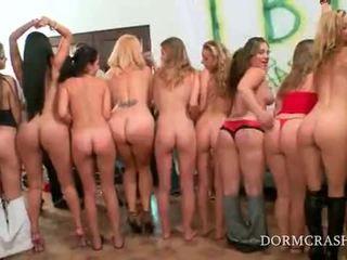 College sluts tyłek spanked przez gwiazdy porno w gorące seks impreza