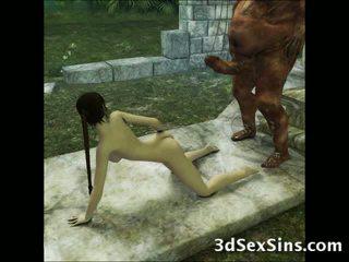 3d aliens i demons pieprzyć dziewczyny!