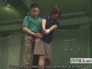 Subtitled japanisch golf schaukel erection demonstration