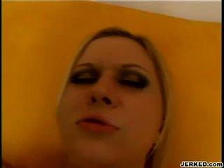 Tóc vàng aaralyn barra receives cô ấy chặt chẽ hole pounded cứng