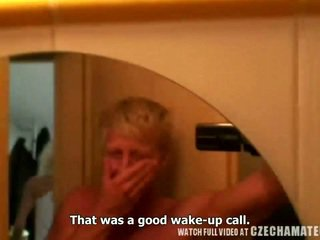 Tight horny blond chick gets morning s...