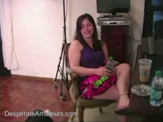 ตอนนี้ แคสติ้ง desperate amateurs คุณแม่ ภรรยา squirting ใช้กำปั้น เต็ม รูป เป็นครั้งแรก ti