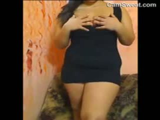 Fat Arabian Girl Strips And Masturbates