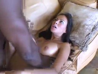 big cock, interracial, cum on tits