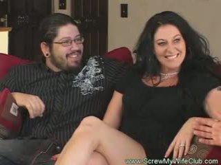 Slutty casatorit femeie rides pula pov