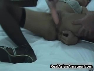 Asian Teen Warms Her Twat With Toy