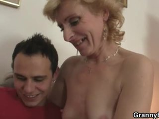 Mature lady gets banned by younger dude