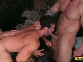 Gays in uniform anal fucking