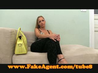 FakeAgent Sexy amateur takes creampie in casting