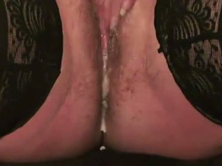 Classy sexy US hairy blonde mother makes squirting fountain