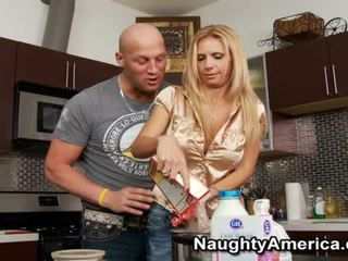 Horny Milf Brooke Tyler Hungry For The Huge Baloney