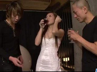 Kazumi Nanase feels several men fucking her cherry