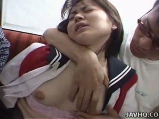 ญี่ปุ่น วัยรุ่น ใน โรงเรียน ยูนิฟอร์ม has เซ็กส์สามคน