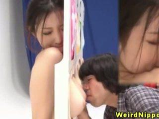 Japanese hottie fingered during gameshow