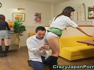 Trakas porno ar japānieši waitresses!
