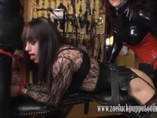 Fasz puppet zoe gives latex gimps neki teljesen 9 inches a tgirl fasz