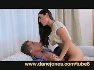 bruneta, mladý, orální sex
