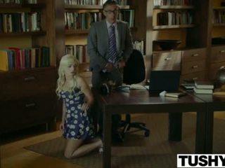 Tushy.com frekk blond anal knullet av henne therapist <span class=duration>- 12 min</span>