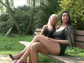 adolescentes, lésbicas, ao ar livre
