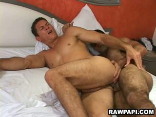 Sexy latin gay giving fucking his lover hard