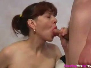 Quiet shy housewife fucking younger guy