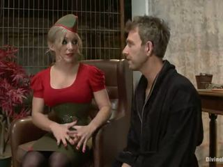 Spicy Big Titted Blonde Dia Zerva Having A Fellow Strapon Bumped In Tied Vid