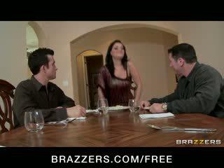 grande, tits, deepthroat