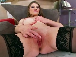 Alice march fingers her pussy for you