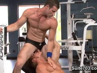 Gavin waters i rusty stevens. ćwiczenia i pieprzyć.