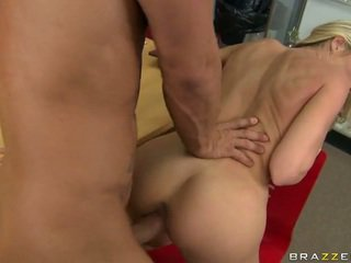 Blonde basketball scout gets fucked