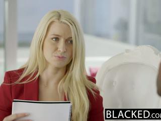 Blacked virksomhet blond anikka albrite rumpe knullet av en bbc