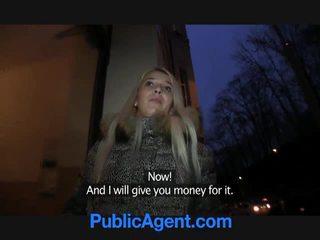 Public agent fucks blonde slut dominic...