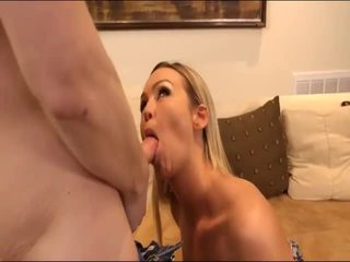 blow job, cum in mouth, fake tits