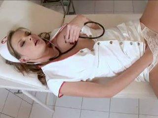 Wicked sykepleier tarra hvit acquires seg selv kåt inside den clinic