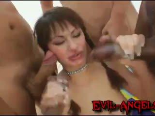 Kid ýamaýka - anita hengher brutally double göte sikişmek gangbanged by monstr cocks