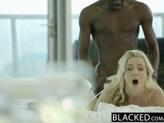 Blacked מדהימה בלונדינית karla kush takes מאסיבי שחור זין