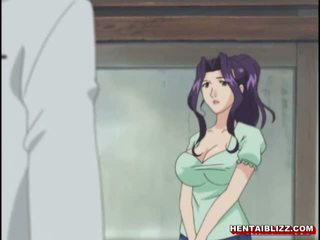 Mom Japanese Hentai Gets Squeezed Her Bigboobs