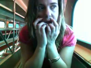 Roșu fierbinte bird pe o tren