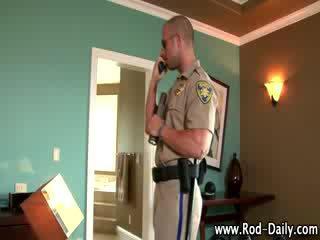 Fetish cop sniffs underwear