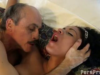 Janine valentine fucked by a mesum old guy on soft sofa