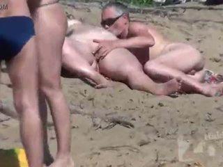 menghisap, voyeur, pantai
