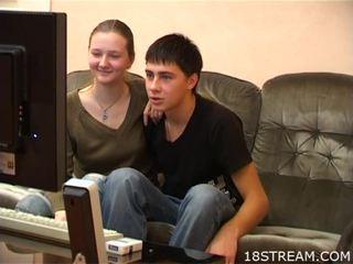 Attractive teen
