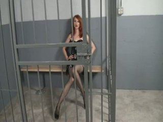 Kendra James - Jerking off in the jail