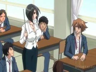 studenten, japansk, tecknad