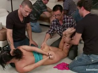 Interracial Gangbang Bondage Party All Over Ashli Orion And Lily LaBeau