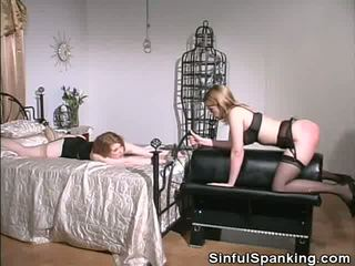 Make her bokong cheeks red, free sinful spanking porno video f0