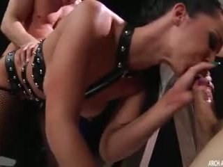sucking cock, booty, double penetration