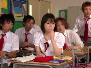 japanisch, teenageralter, haupt;